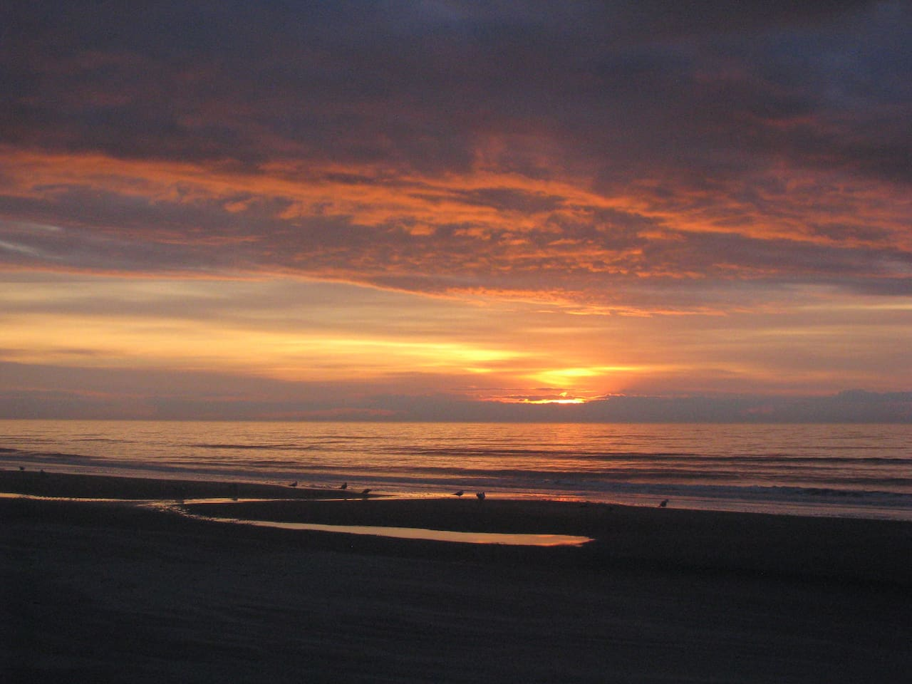 Sunrise at Cherry Grove in front of Beach Blessings condo