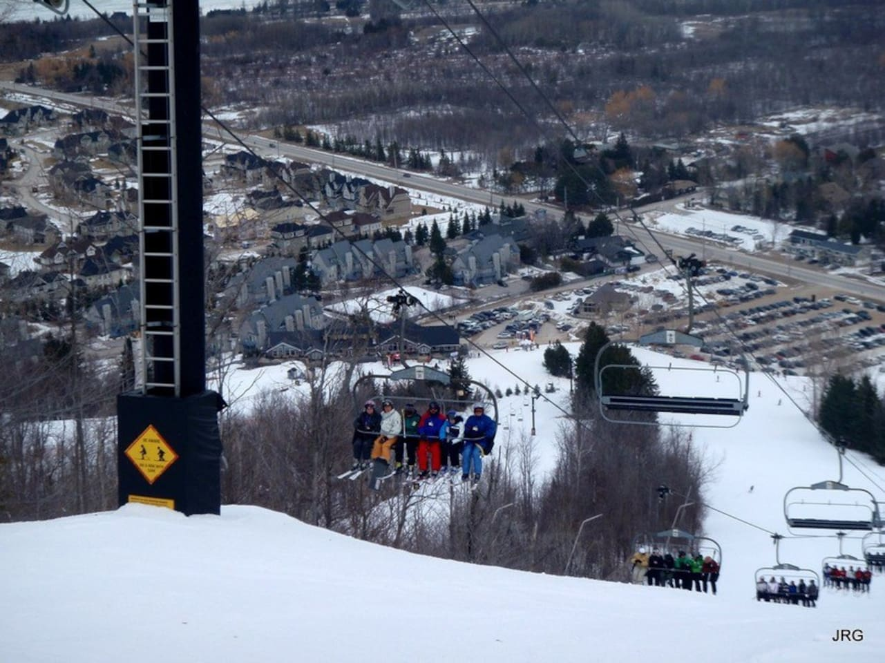 This is a pic of Mountain Springs Resort from the top of the North Chair Lift. Exciting, eh?