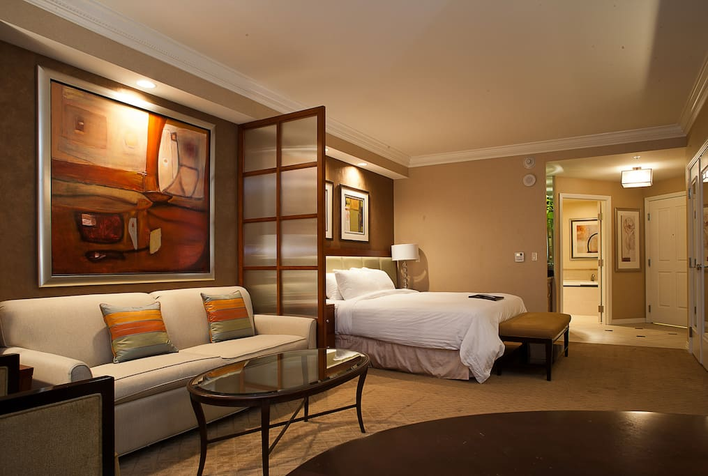 This suite boasts two adjoining rooms which are mirror images of each other. This is the first half of the suite!