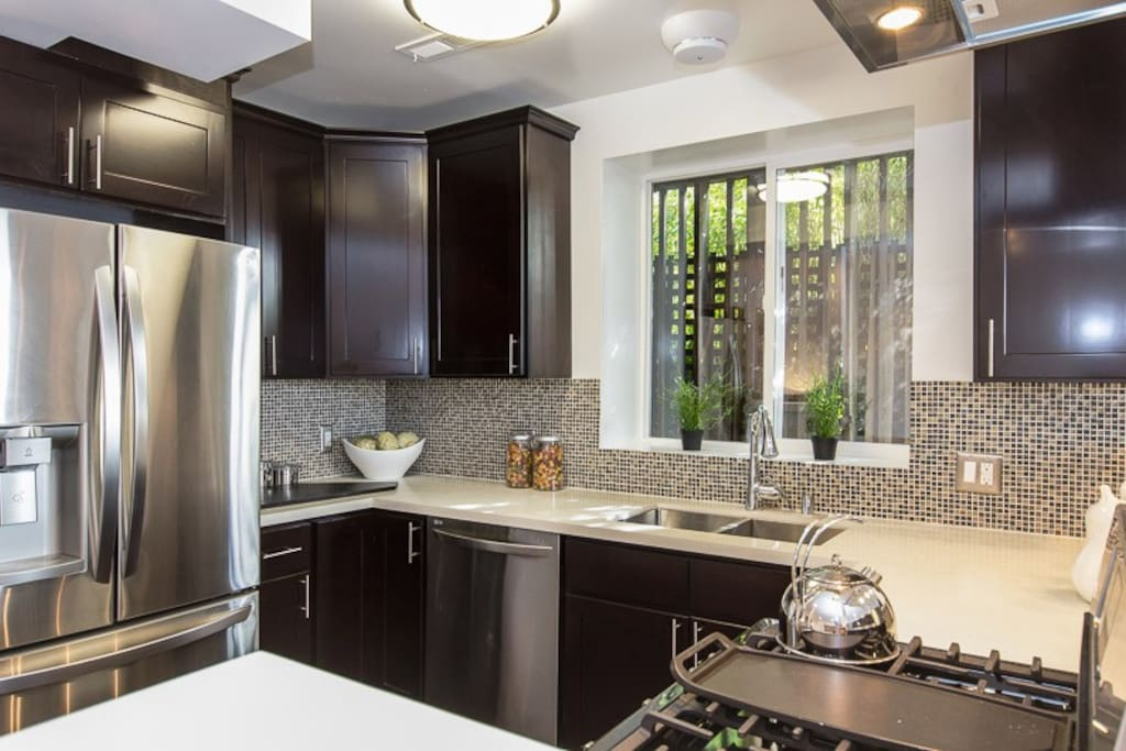 Gourmet Kitchen with Brand New Appliances and basic spices