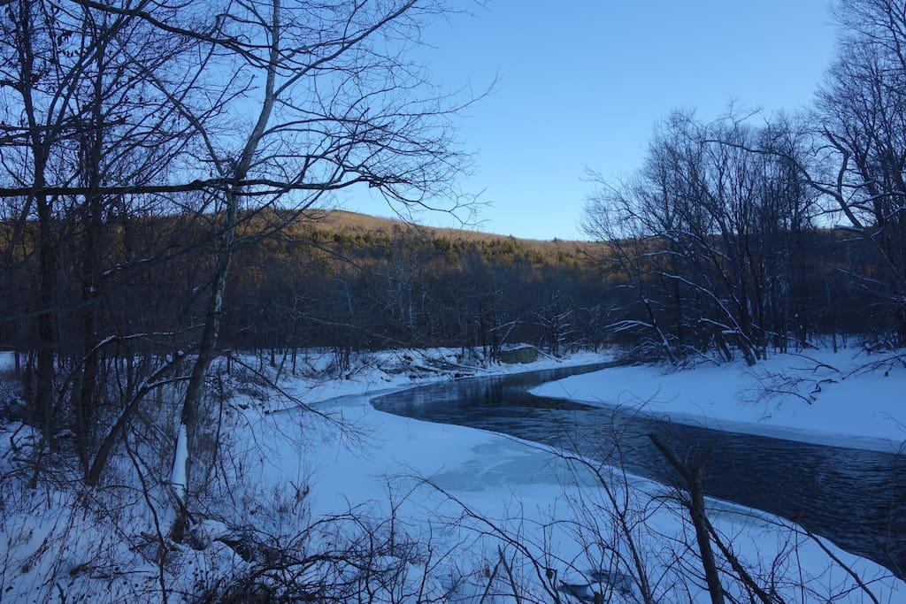 Westfield River in Winter