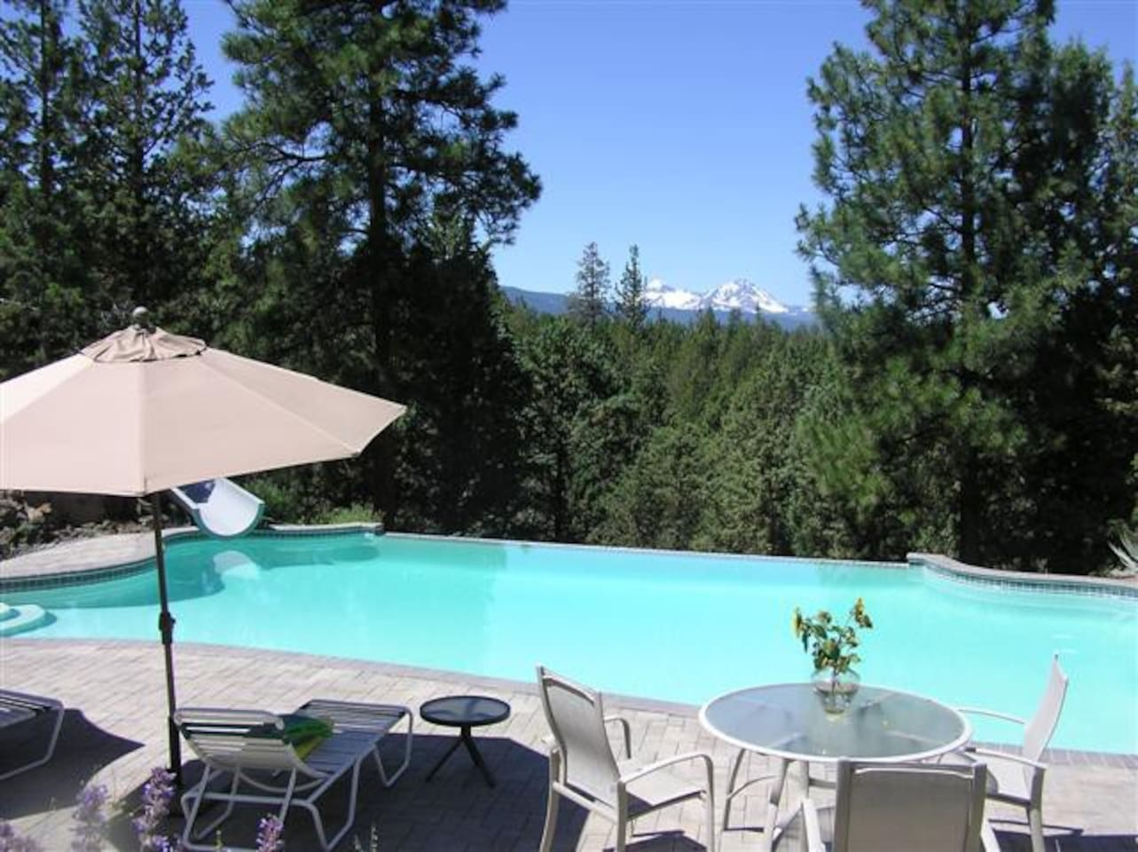 Mountain views from the pool