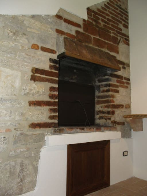 The ancient oven completely restored