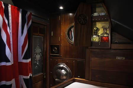 Historic ship First Officer's cabin - London