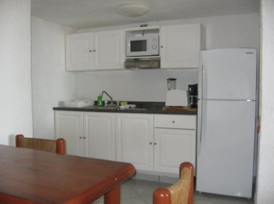 FULLY EQUIPPED KITCHENETTE IN THE OCEAN SIDE UNIT