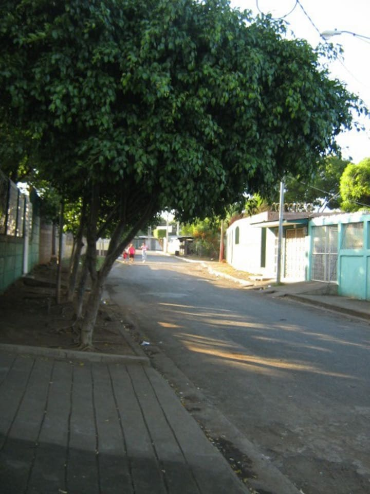 Our street in Managua, Nicaragua