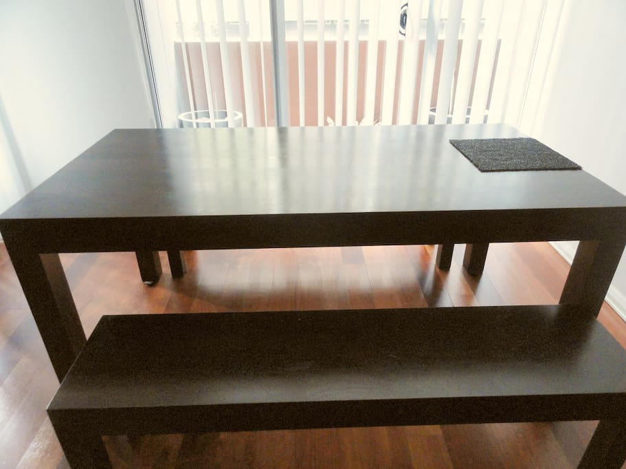 large dining set for six