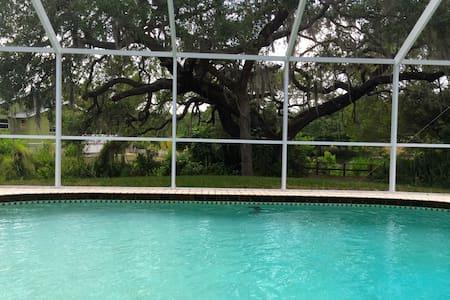 Lovely pool home in serene setting - Ház