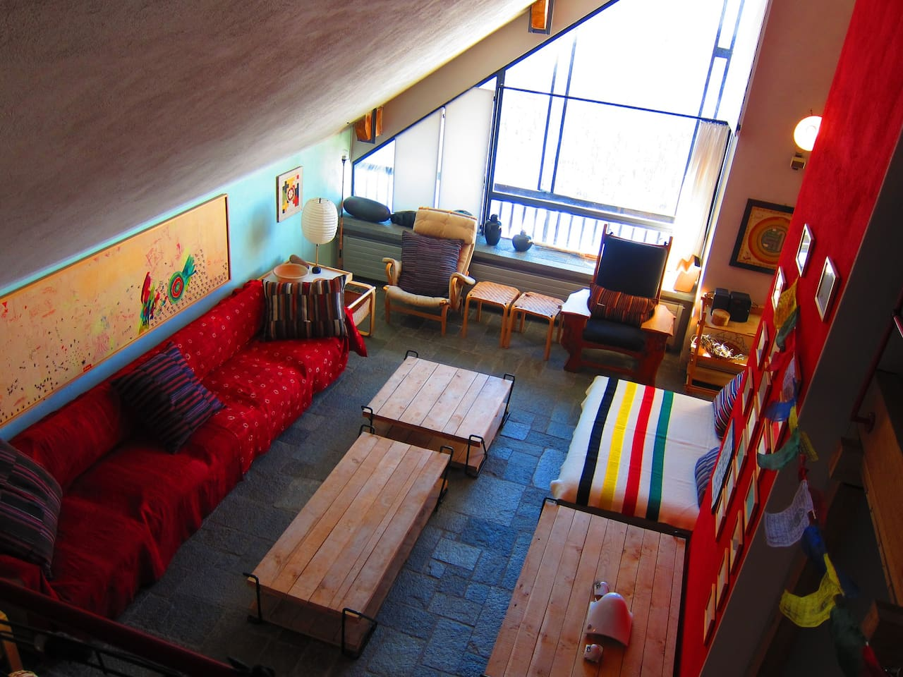 LIVING ROOM VIEW FROM THE MEZZANINE