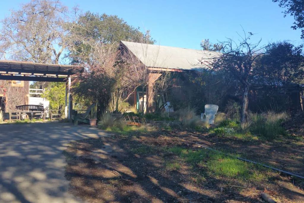 Rustic barn and surrounding