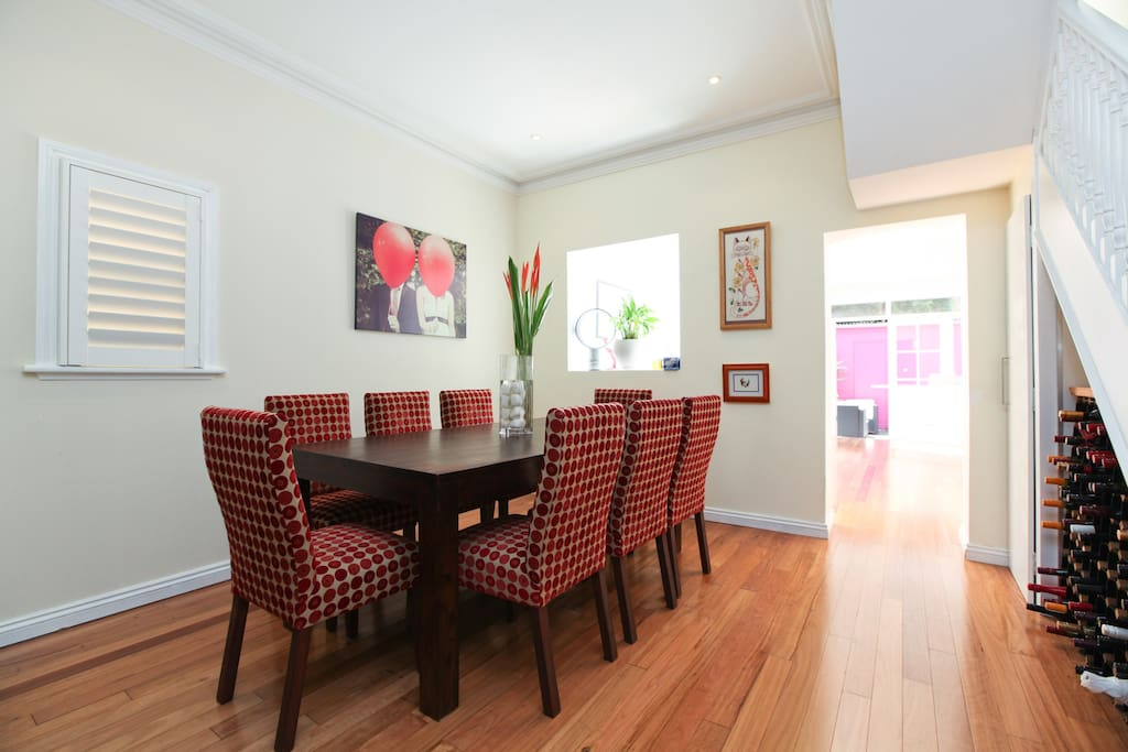 Open plan living and dining