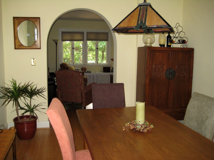 And here's a photo of the dining room taken from the kitchen.