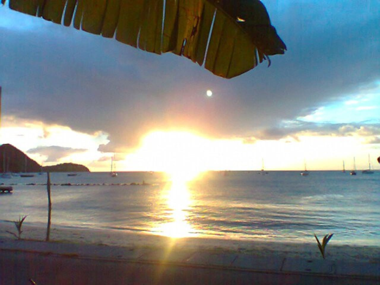 Sunset on Gros Islet Beach