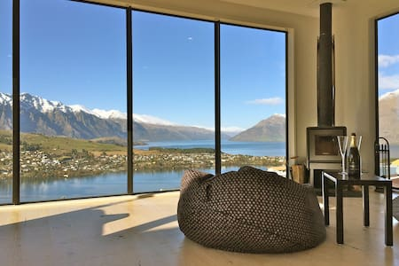 Sunny room with lake&mountain view - Queenstown - House