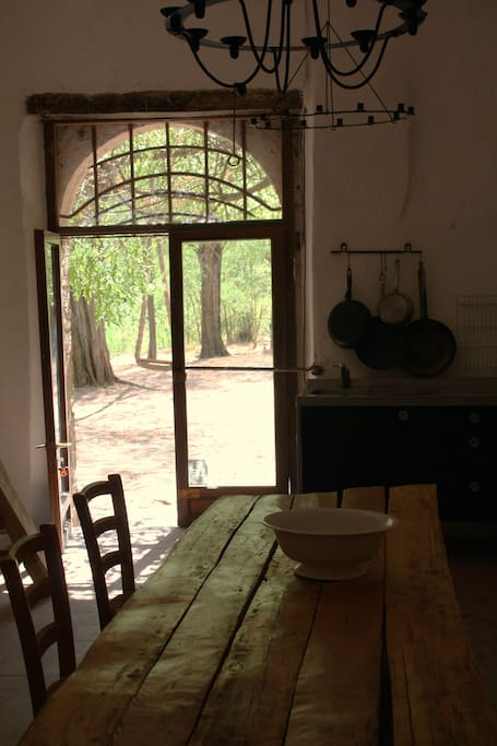 Rustic kitchen and dining room