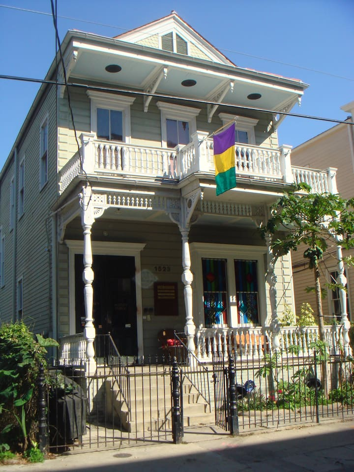 Circa 1888 Victorian. Rear apartment is located in the original part of this building built in 1848 by Free Man of Color.