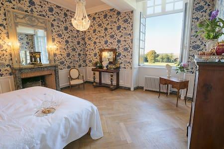 Chambre bleue - Château du Bocage - Slot