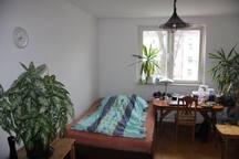 1 Zimmer mit Doppelbett nähe Messe
