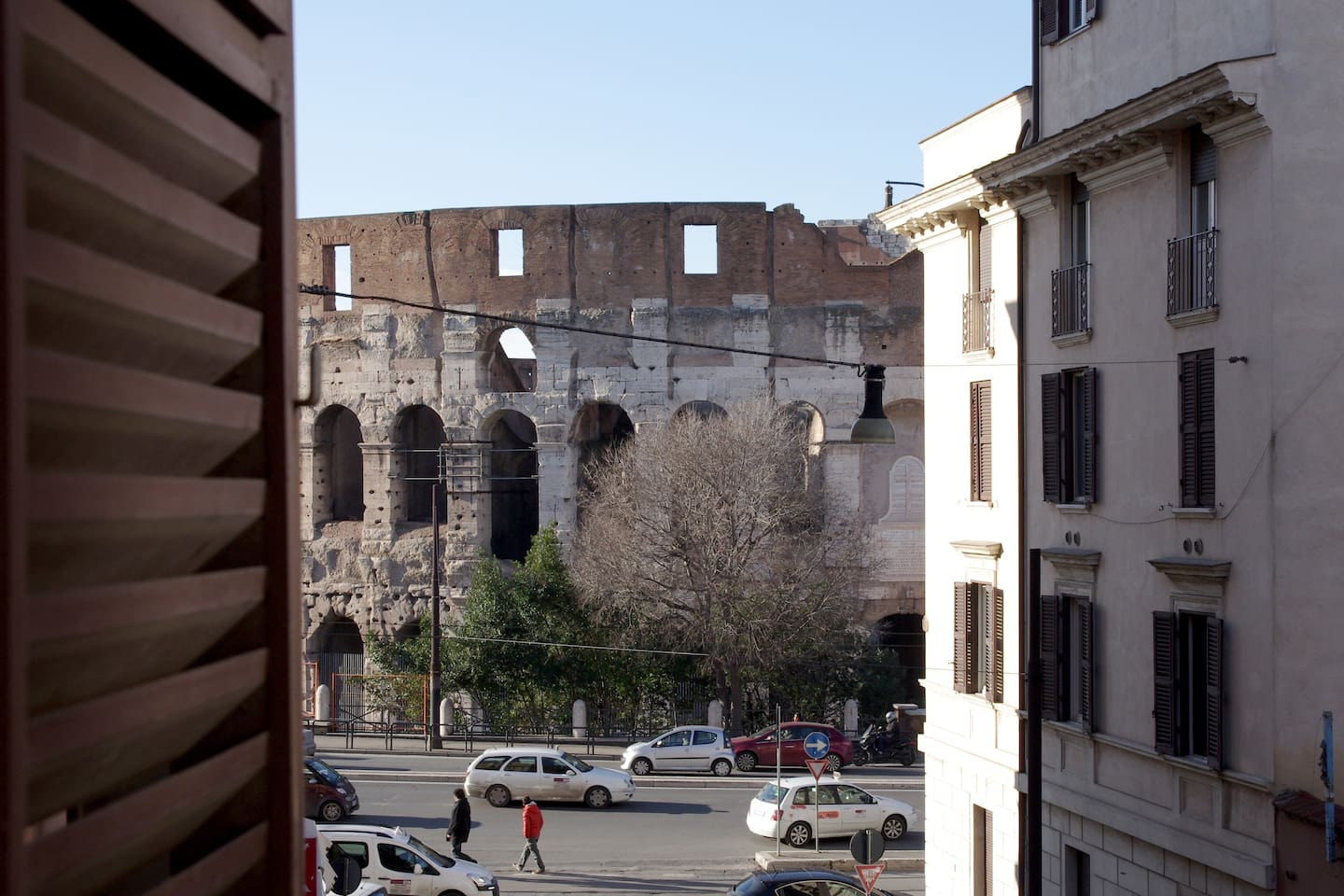 Main Bedroom with Window Overlooking the Colosseo
