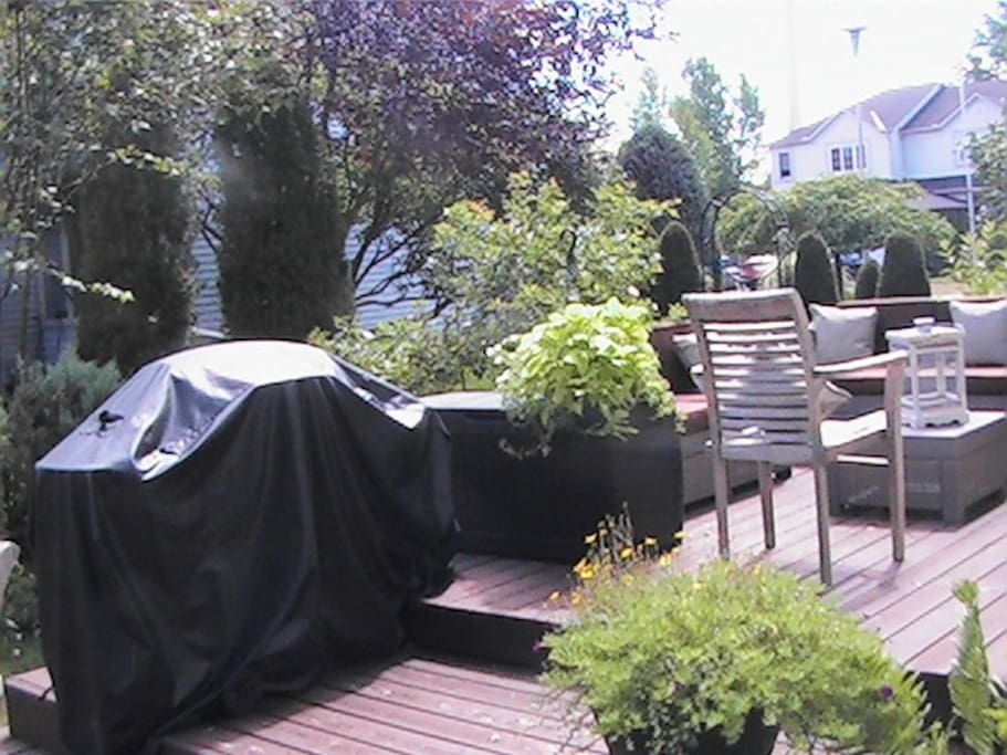 Terrace in summer Barbecue available