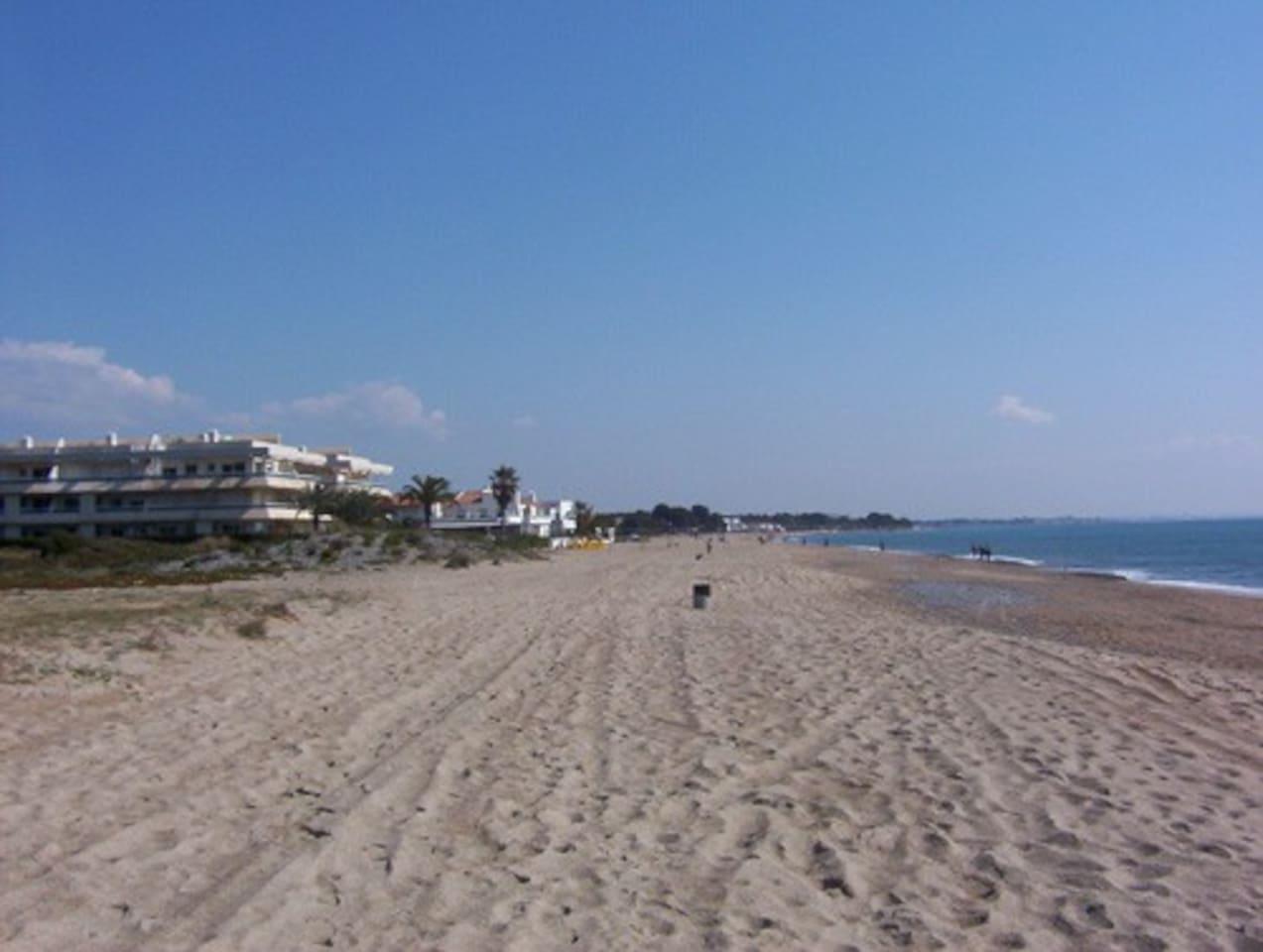 Extensa playa sin aglomeraciones