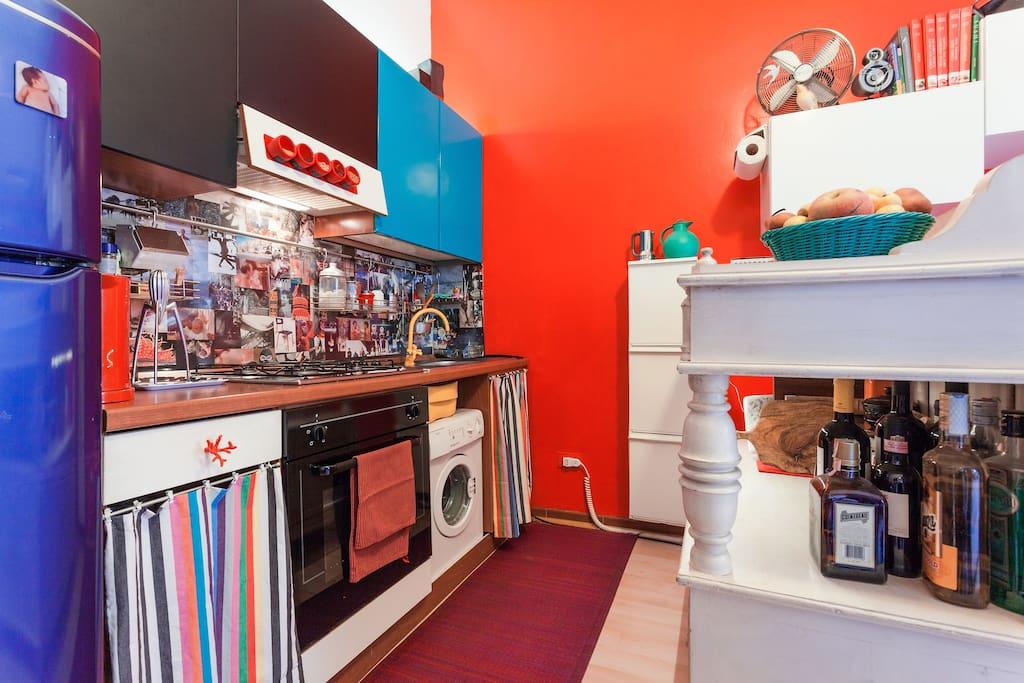 a crazy cozy kitchen corner
