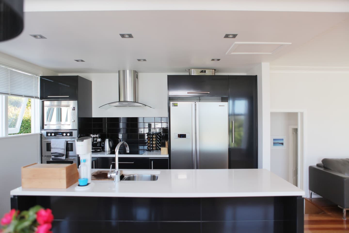 Open plan kitchen - with all the mod cons