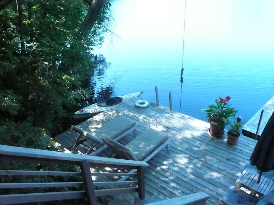 Lower deck area. Your own private deck..