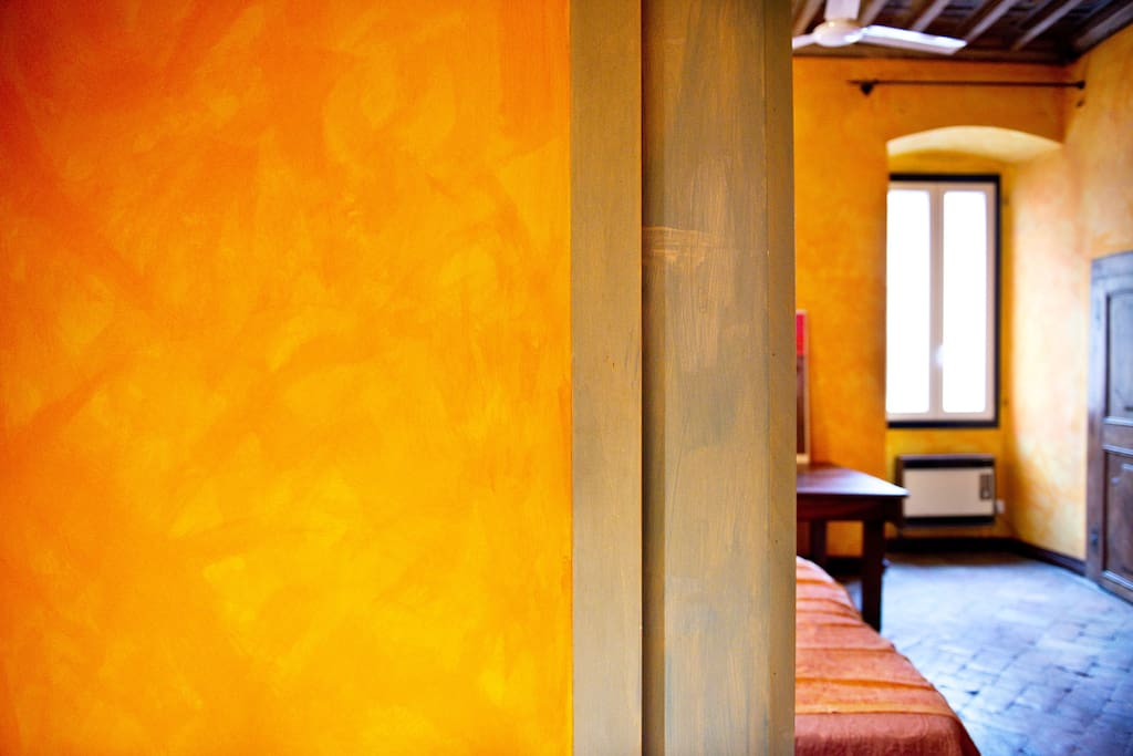 Orange Room in Historic Residence