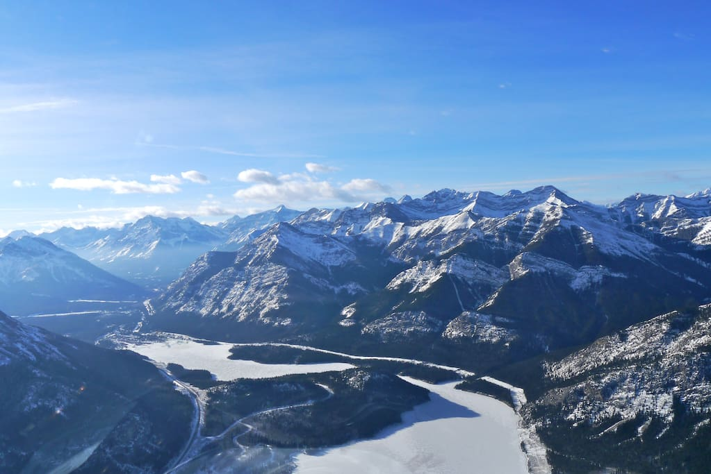 Panoramic Mountain Range- from local helicopter tour.