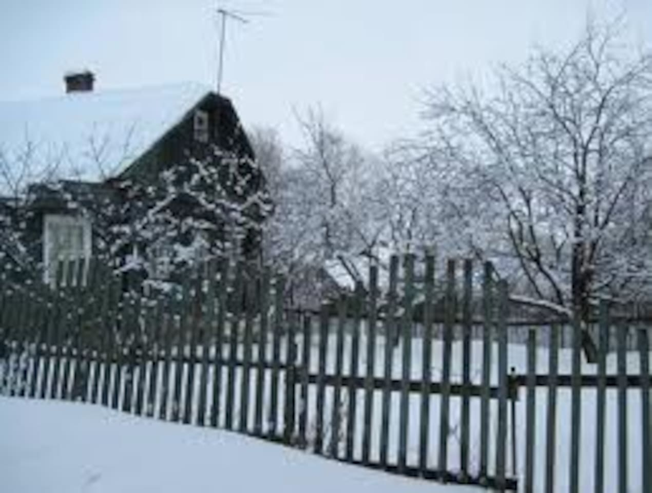 House in the village with 3 kom.s b