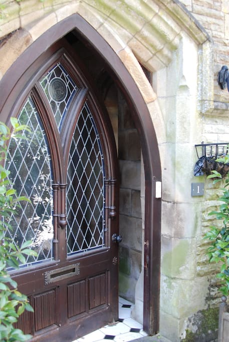 This beautiful front door leads you into your beautiful and relaxing getaway.