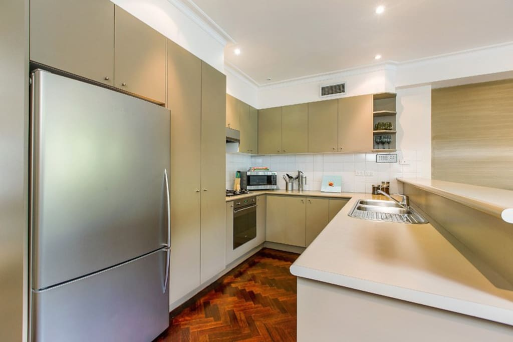 full size fully equipped gourmet kitchen