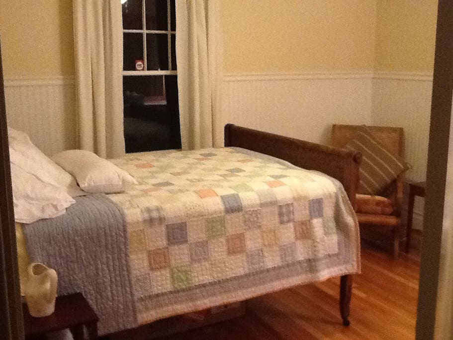 Private Room with a Double Bed, Lounge Chair and Dresser