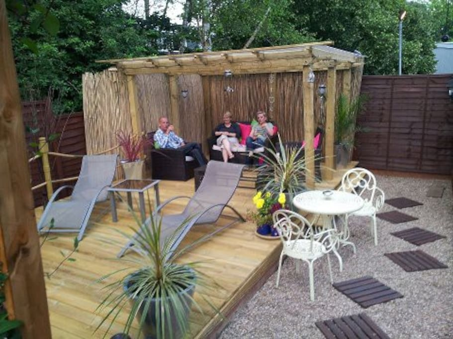 decking area for you to use on sunny days