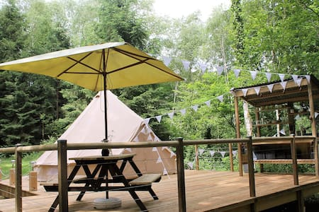 Bell Tent on Terrace with Lake View - Tent