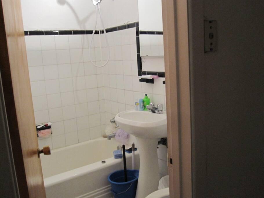 Salle de bain pratique!