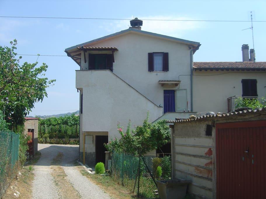 Casa vista da fuori