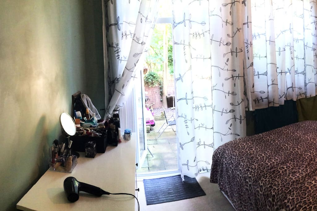 Master bedroom with garden access