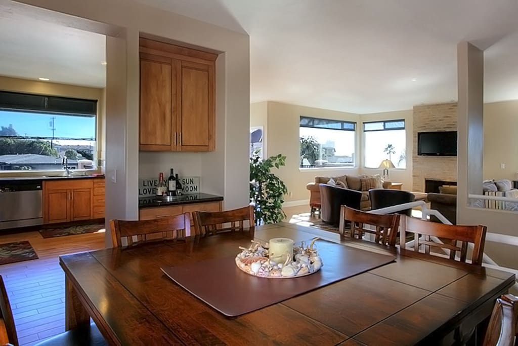 intimate dining room off the gourmet kitchen
