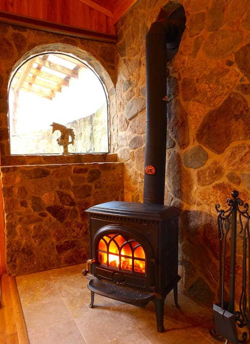 Woodstove in the bedroom