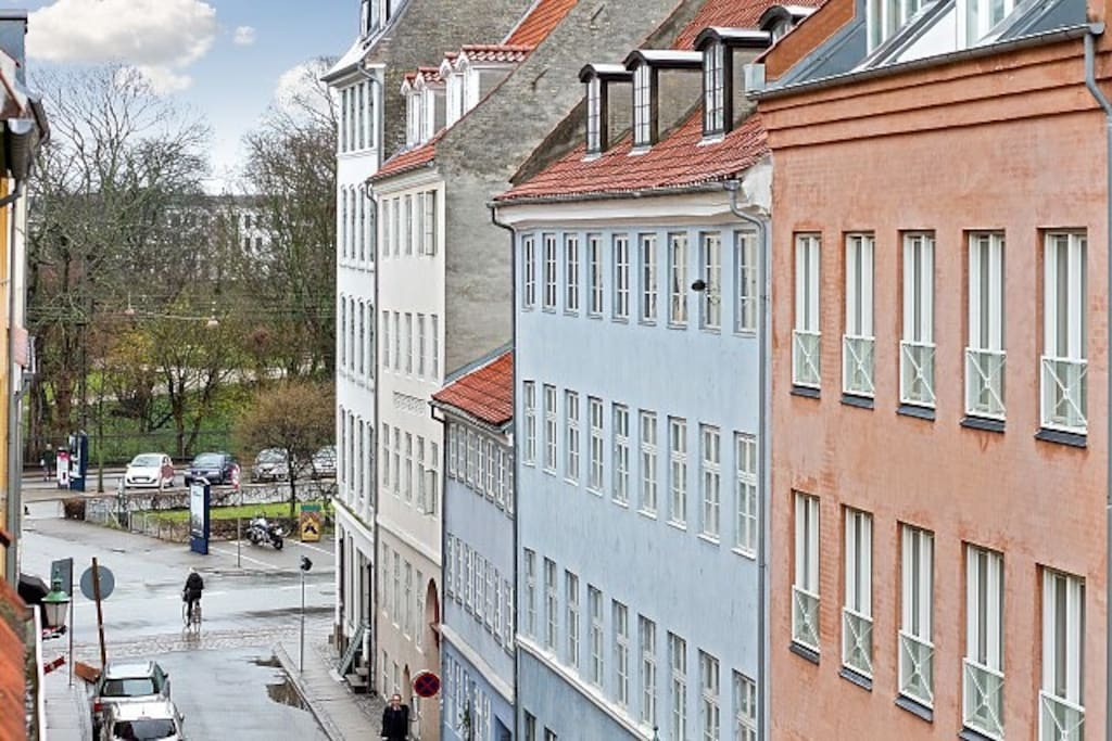 View of down town Copenhagen from the apartment