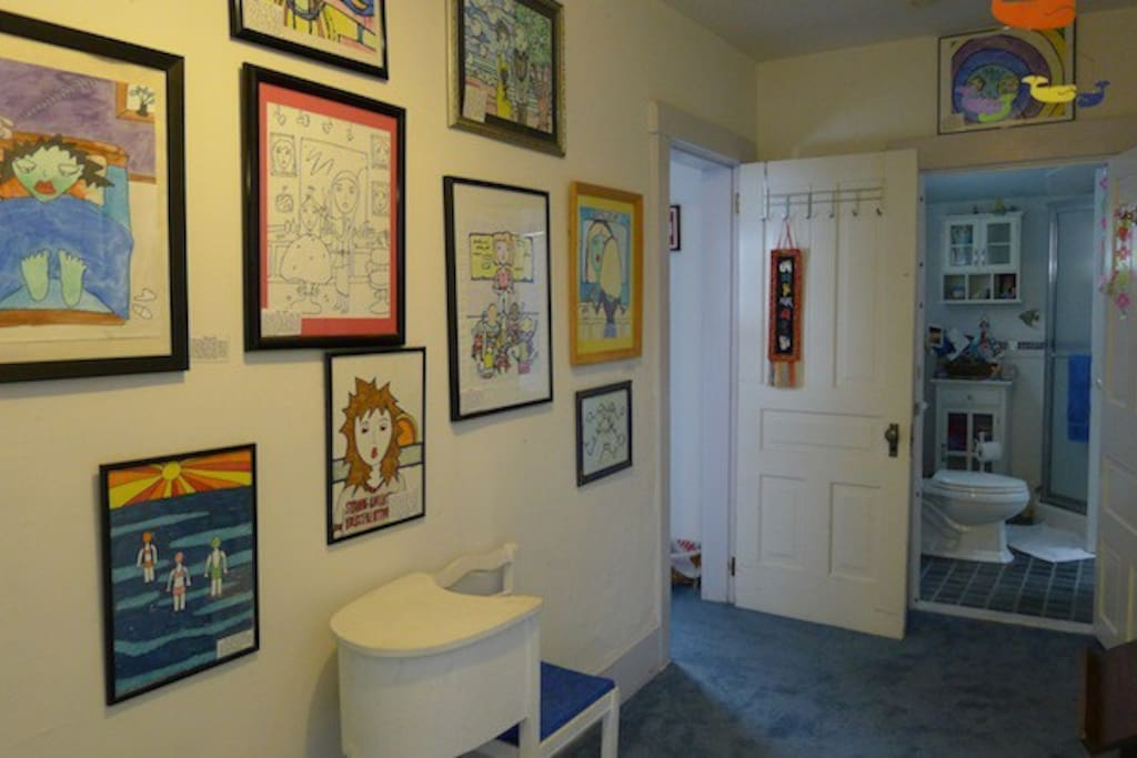 The Everything's Art Gallery, featuring the owner's art