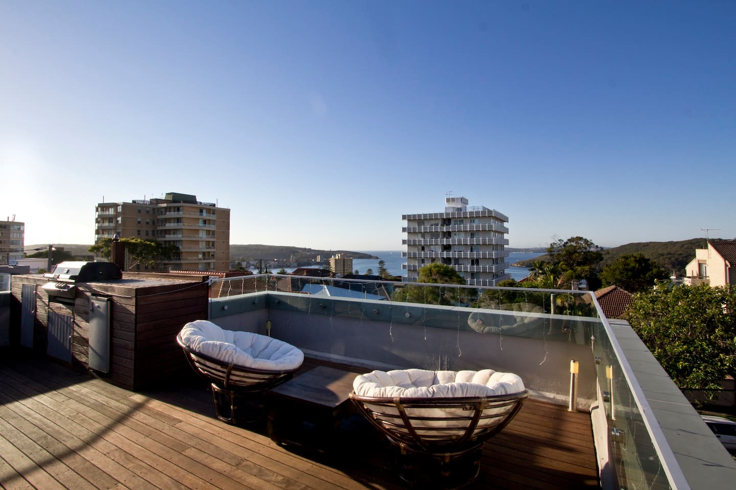 The private rooftop deck - yours to access alone (NOT SHARED!) and enjoy amazing views