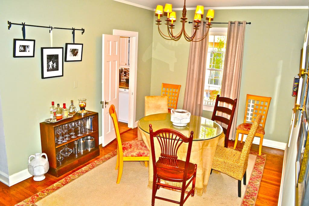 dining area with plenty of chairs for everyone!