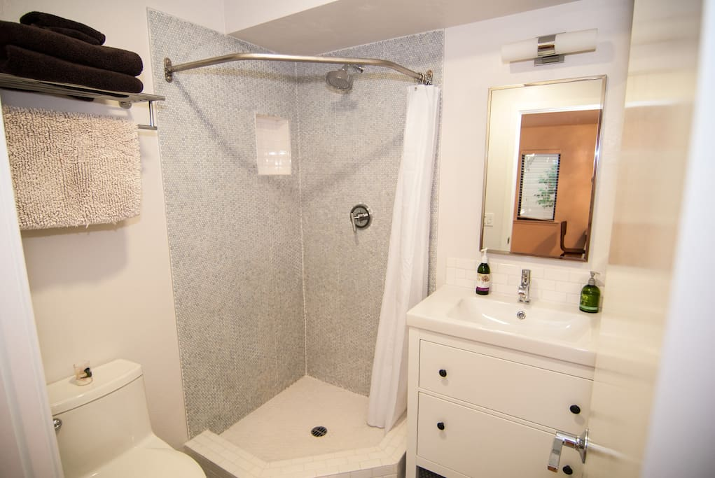 Newly remodeled bathroom.