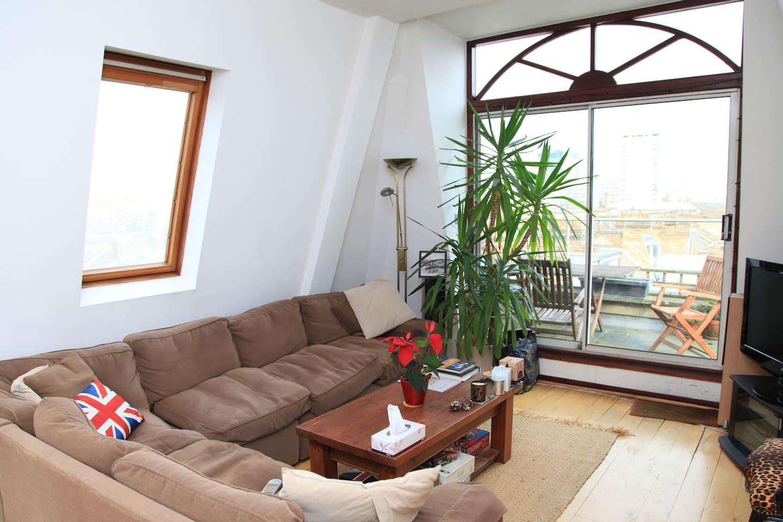 Penthouse double,terrace & bathroom