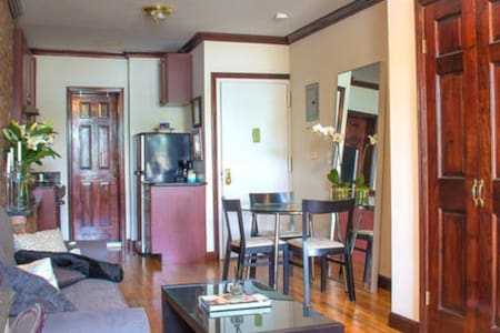 Located in the East Village, on 1st St and 2nd Ave, this flat is on the top floor and backside of the building, newly renovated with a granite kitchen, hardwood floors, original exposed brick walls, fireplace, great lighting, and ample closet space.