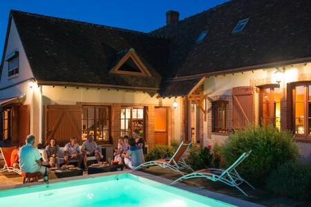 Grand gîte Chartres : Détente charme à la campagne - House