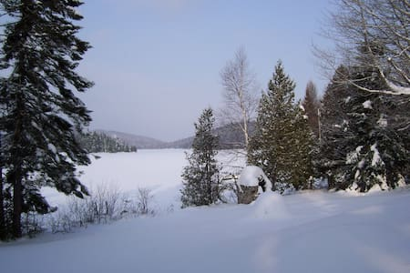 Fall & winter setting beautiful Lakefront Cottage - Chalet
